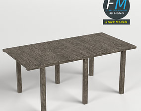Wooden pier module 3D model