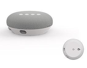 Google home mini white speaker 3D print model