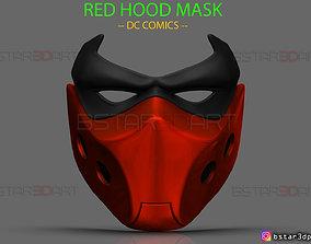 Red Hood Mask - DC comics Cosplay 3D printable model