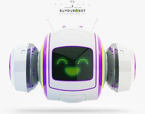 3D Cute levitating robot bot toy