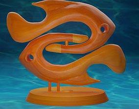 Pisces zodiac sign 3D printable model