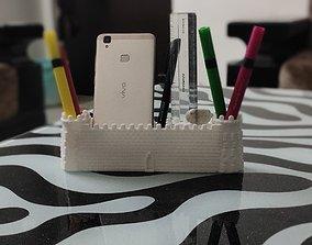 3D print model Castle gate desk pot