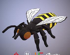 Game ready Bee D180813 3D asset