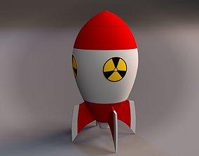 3D Cartoon Nuclear Rocket