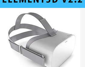 E3D - Oculus Go Headset 3D model