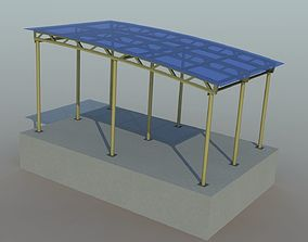 Metal shed var 2 3D asset