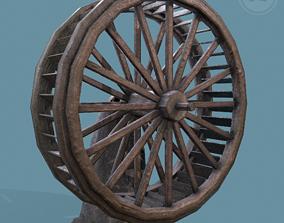 3D model Water Wheel Wooden