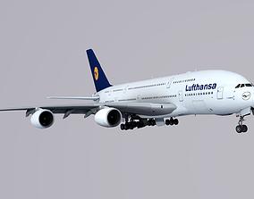 Airbus A-380 Lufthansa 3D model