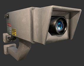 Security Camera audio-device 3D asset VR / AR ready