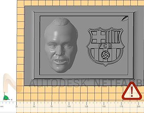 Andres Iniesta - FC Barcelona - 3D print ready frame