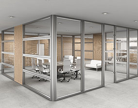 3D model furniture office interior partition