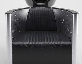 3D Aviator Vintage Shampoo Chair