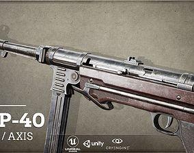 World War II Axis - First Person Asset MP40 3D model