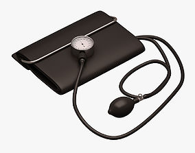 Blood Pressure Monitor 3D model game-ready