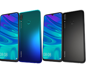 Huawei P Smart 2019 Black and Blue 3D