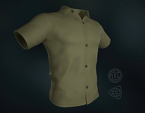 3D asset Yellow Summer Shirt