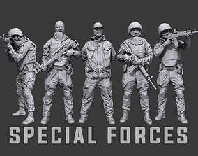 Lowpoly Special Forces Pack 3D asset