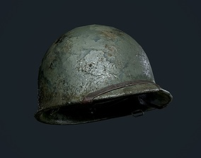 WW2 American Soldier Military Helmet Game 3D model