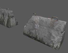 Military Concrete Barrier 3D asset