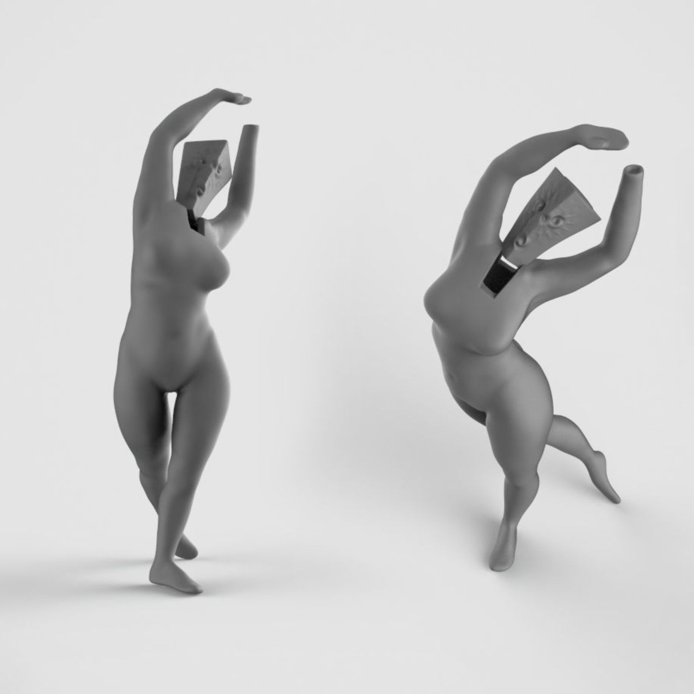 Female figure sketch