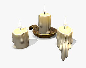 3D model low-poly Candles lowpoly
