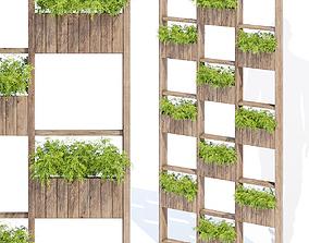 Green wall plant 3D model
