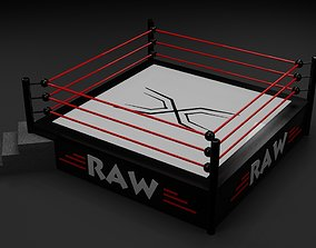 Ring Wrestling - Boxing - PBR - low poly - 3d realtime 3
