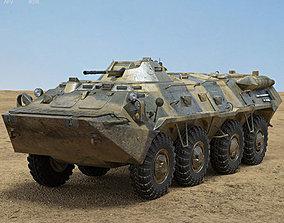 3D model soviet BTR-80