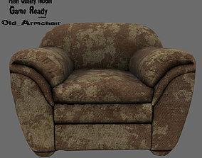 Armchair 3D asset game-ready seat