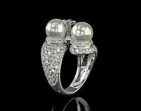 Ring Twins Pearl 3D print model