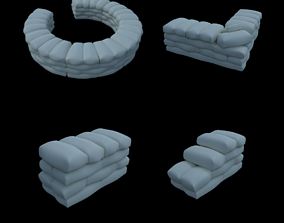 Sandbags Trench 3D printable model