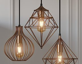 3D model Copper Metal Hanging Light by Homesake