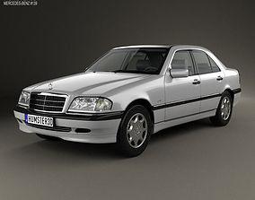3D model Mercedes-Benz C-Class sedan 1997