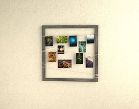 Frame with photos on the clothes regs 3D