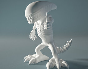 Alien from outer space for 3d printing lego-person