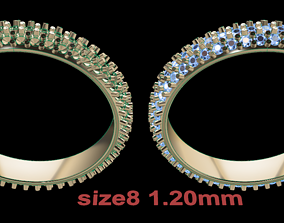 Dainty Cluster Diamond Infinity Band Size8 3D print model