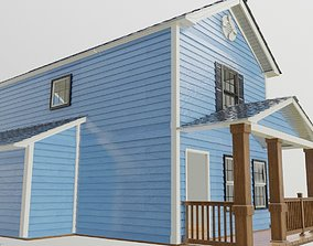 3D model Modular house textured and well uv unwrapped