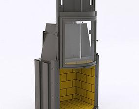 3D seguin meteor galbe wood stove