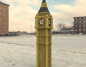 Big Ben for 3ds obj and fbx formats