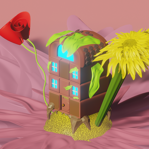 House in the petals