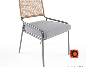 Wicker Chair 3D outdoor