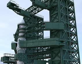 angara and the launch pad 3D model