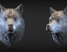 Wolf head mammal 3D printable model