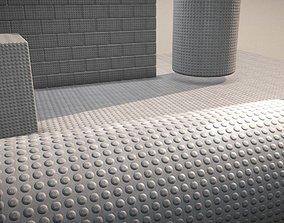 3D asset Tactile Warning Surface 1 -Texture Set 24