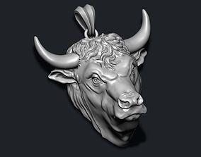 3D print model Bull pendant