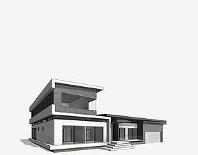 Katonah Residential Villa Revit Model game-ready