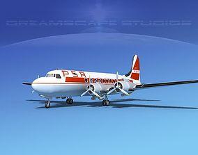 3D model Douglas DC-4 PSA Airlines