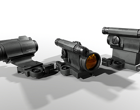 3D model Aimpoint CompM5 Red Dot Sight