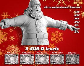 3D asset Santa Claus - low to high res