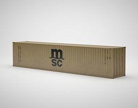 Cargo Container - MSC - Contenedor de carga 3D